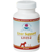 Ayush Herbs, Liver Support Livit-2 Vet 90 tabs - All Natural Ayurvedic Pet Supplement