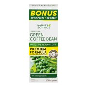 Nature's Science 100% Pure Green Coffee Bean Caplets, 100 Count