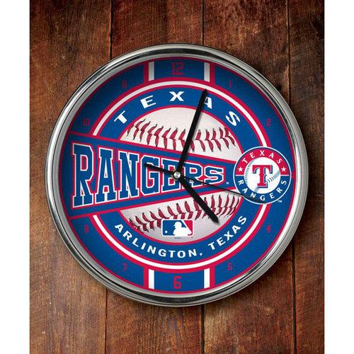 MLB - Texas Rangers Chrome Clock