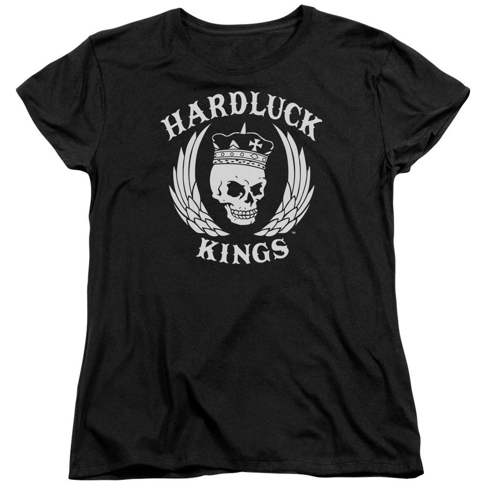 Hardluck Kings Logo Womens Short Sleeve Shirt
