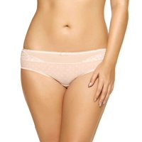 Felina NEW Beige White Nylon Womens Size Medium M Polka Dot Bikinis Panties DEAL