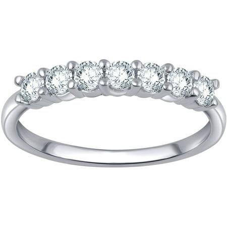 5/8 Carat T.W. Round White Diamond 10kt White Gold 7-Stone Band