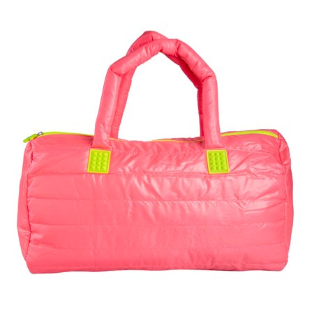 FUEL Hot Pink Gym Bag Duffle Zipper Weekender for Women Duffel Weekend Carry On with Zipper Pocket