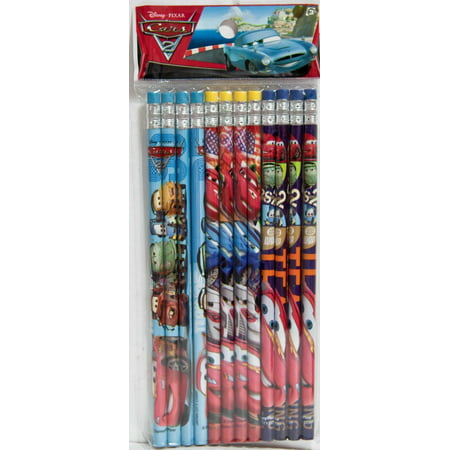 Party Favors Disney Pixar Cars 3 24 Wood Pencils Pack (Disney Cars Halloween Party)