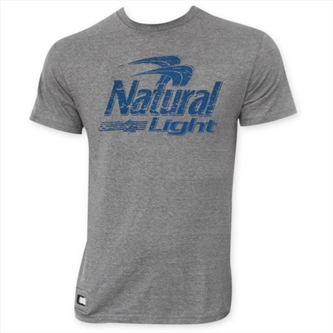 Tees Natural Light Mens Gray Pop Top T-Shirt - XXL