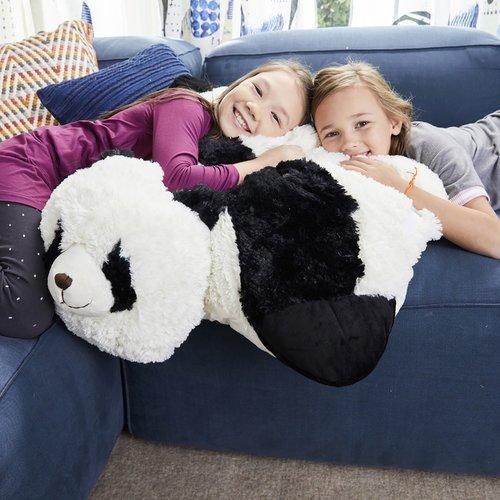 Pillow Pets Jumboz Comfy Panda Plush Floor Pillow