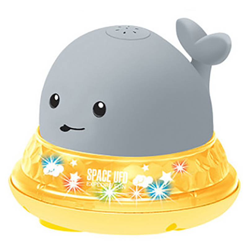 with LED Light CHENYING Baby Shower Toys Whale Automatic Induction Water Spray Toy White Bathtub Toys Childrens Favorite Baby Water Toys Durable Electric Induction Water Spray Bathtub Whale