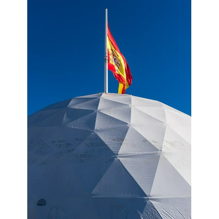 Framed Art For Your Wall Flag Spain Igloo Madrid Sky 10x13 Frame