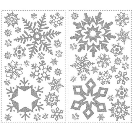Wallhogs Glitter Snowflakes Wall Decal](Snowflake Decals)