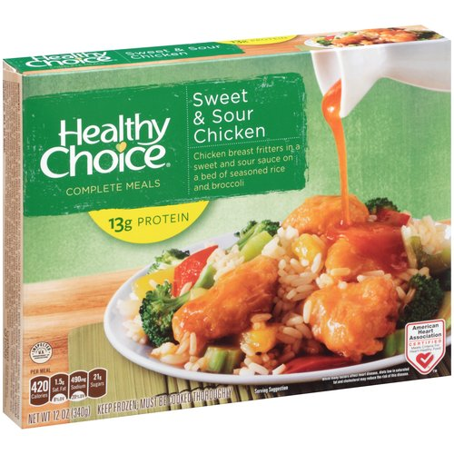 Healthy Choice Complete Meals Sweet & Sour Chicken, 12 oz