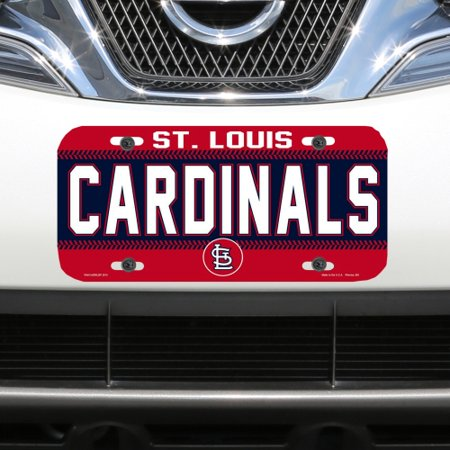 St. Louis Cardinals WinCraft Logo Plastic License Plate - No - St Louis Cardinals Cake Decorations