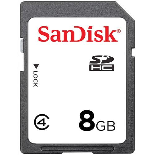 SanDisk 8GB SDHC Secure Digital Memory Card (Bulk Package)