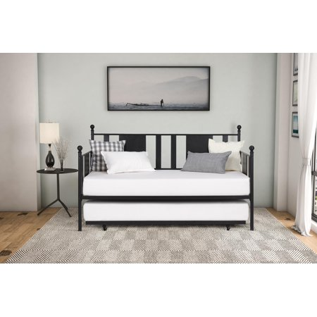 DHP Langham Metal Daybed with Trundle, Black - Multiple Sizes ()