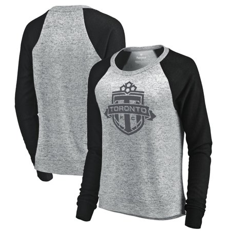 free shipping 0b631 54869 Toronto FC Let Loose by RNL Women's Cozy Collection Tri-Blend Raglan Long  Sleeve Sweater - Heathered Gray/Black