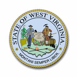 3.8 Inch West Virginia State Seal Vinyl Transfer -