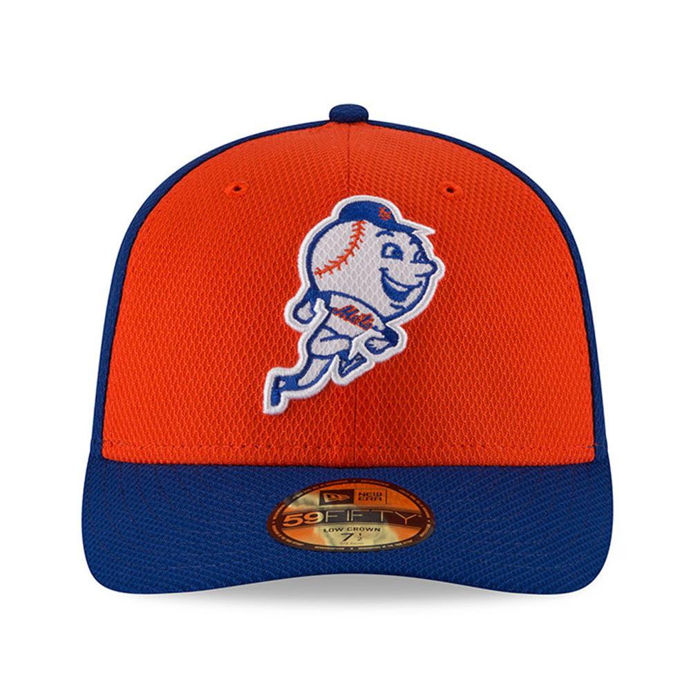 finest selection c2387 721de New York Mets New Era Diamond Era Low Profile 59FIFTY Fitted Hat -  Royal Orange - Walmart.com