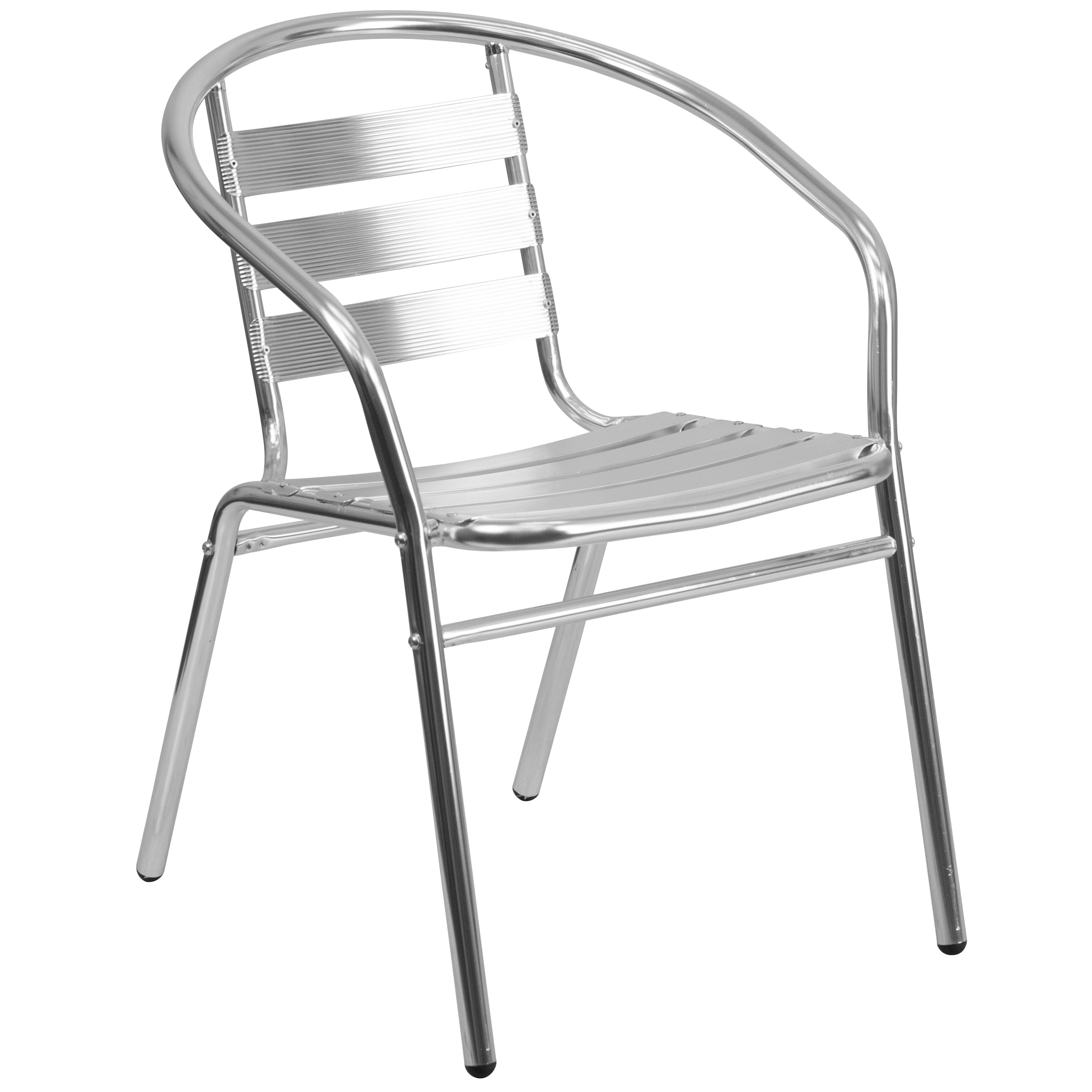Lancaster Home Aluminum Slat Back Indoor-Outdoor Restaurant Chair