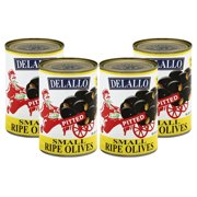 (4 Pack) Delallo Small Ripe Olives, 6 oz