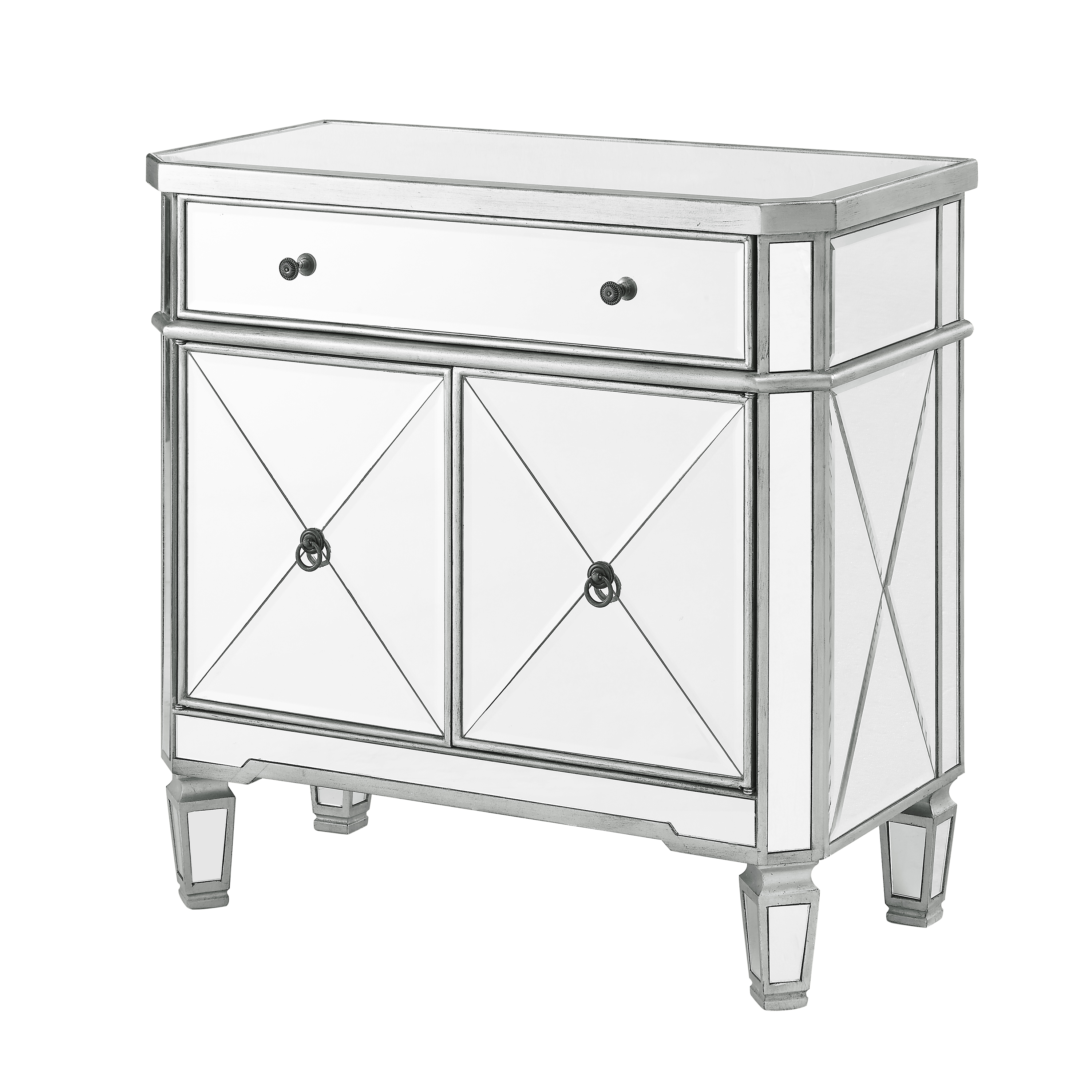 Powell Mirrored Console, Silver
