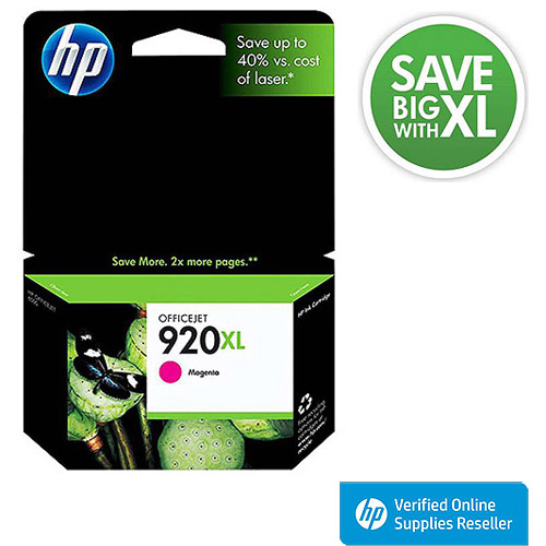 HP 920XL High-Yield Magenta Original Ink Cartridge in Retail Packaging, CD973AN