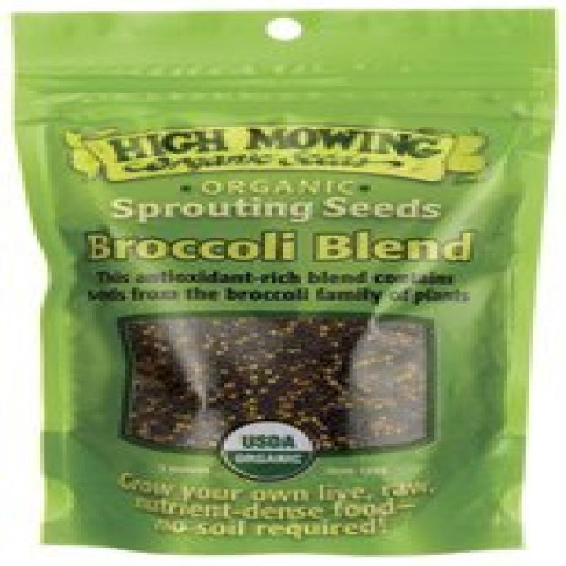 High Mowing Organic Sprouting Seeds Broccoli Blend -- 3 oz by