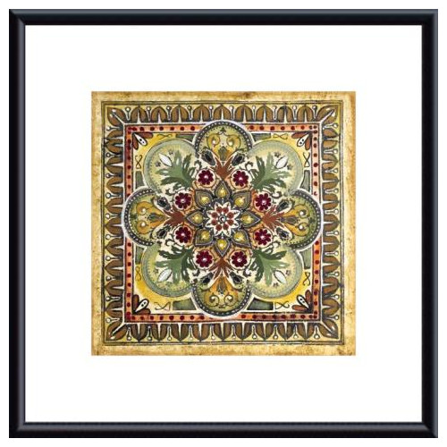 Printfinders 'Italian Tile III' by Ruth Franks Framed Painting Print