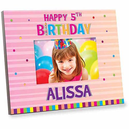 Personalized Pink Happy Birthday Frame