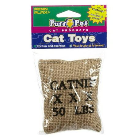 Penn Plax Cat532 6   X 4   Catnip Burlap Bag Cat Toy