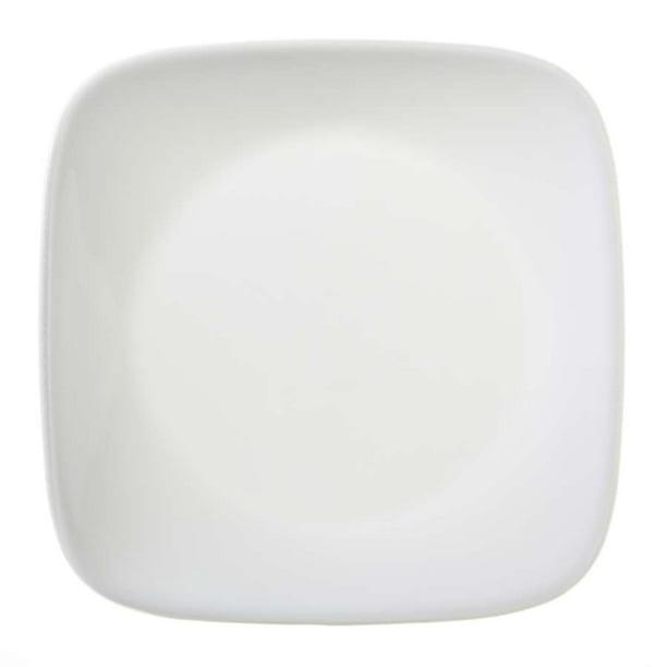 Corelle Square Pure White 6 1 2 Plate Walmart Com Walmart Com