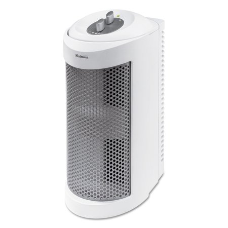 Holmes Allergen Remover Air Purifier Mini Tower With True Hepa Filter  Three Speeds