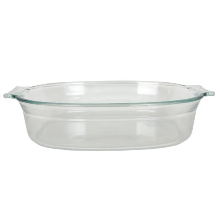 Large Oval Glass - Pyrex 702 2.5 Quart Glass Oval Roaster Dish