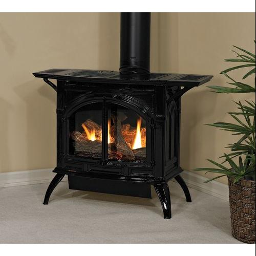 Heritage Cast Iron Matte Black Stove DVP20CC30FN - Natural Gas