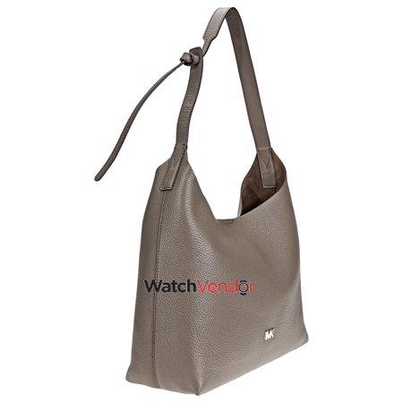 6801b7e171d9 Michael Kors Junie Medium Pebbled Leather Shoulder Bag- Mushroom - image 2  of 5 ...