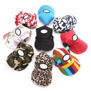 Canvas Summer Small Pet Dog Cat Baseball Visor Hat Puppy Cap Outdoor Sunbonnet,red color