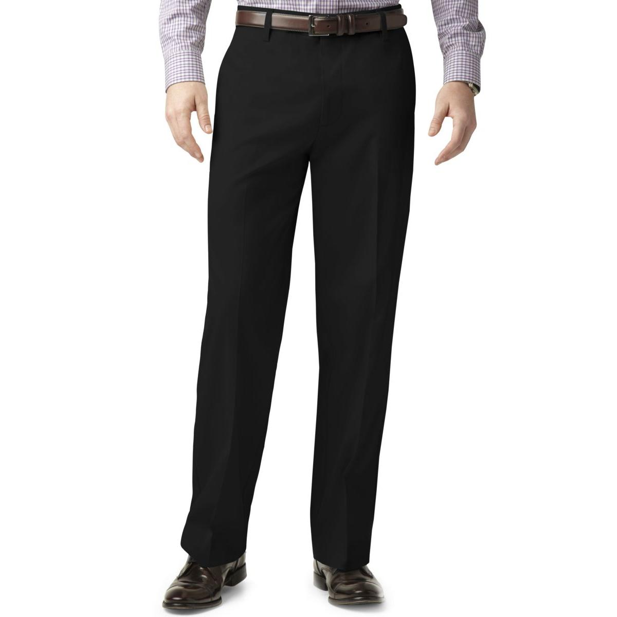 Dockers Mens Classic Fit Flat Front Casual Pants by Dockers