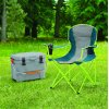 Ozark Trail Oversized Quad Chair with Cup Holders - Blue