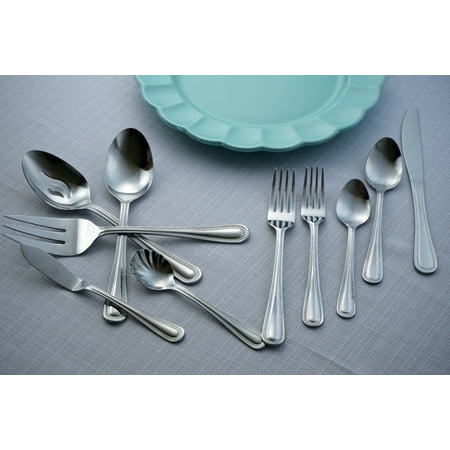 Mainstays Mallory 45 Piece Stainless Steel Flatware Set