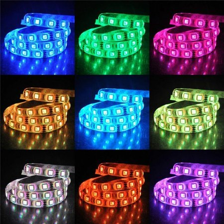 5M Waterproof Car Led Strip Light 3528Rgb Color Marquee With Controller Set Car Decoration Party Accessries - image 5 of 6
