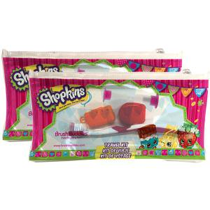 2PK BRUSH BUDDIES SHOPKINS TRAVEL KIT