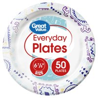 "Great Value Everyday Plates, 6 7/8"", 50 Count"