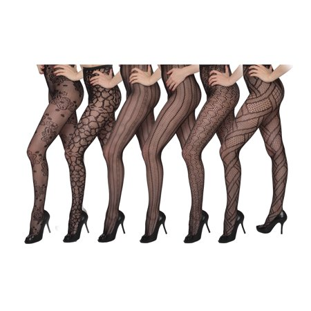 Isadora Women's 6 Pack Fishnet Designed Tights for $<!---->