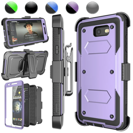 differently b207f a5813 Galaxy J7 Perx Case,Galaxy J7 Sky Pro Case,J7 V/J7V/Halo/J7 Prime Holster  Clip, Njjex [Lavender] [Built-in Screen] with Kickstand + Holster Belt Clip  ...