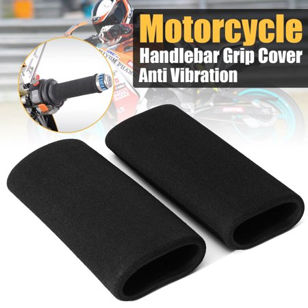 2x Motorbike Slip-on Foam Anti Vibration Comfort Handlebar Grip Cover Motorcycle Accessories