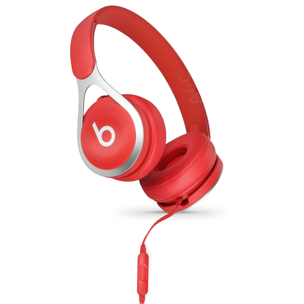 (Refurbished) - Beats EP On-Ear Wired Headphones - A1746 (ML9C2LL/A) - Red