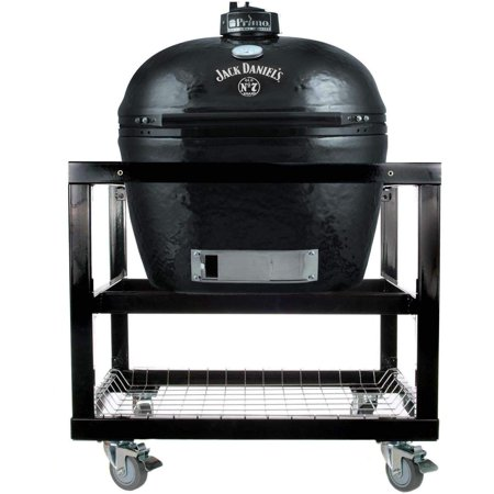 Primo Oval XL 400 Ceramic Smoker Grill Jack Daniel's Edition On Cart ()