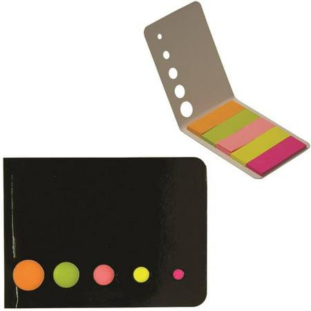 Debco DA7017 125 Mini Sticky Flag Booklet - Black  - 50 Pack