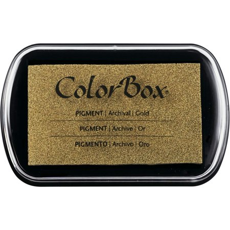 Pigment Ink Pad Color: Metallic Gold (Gold Pigment)