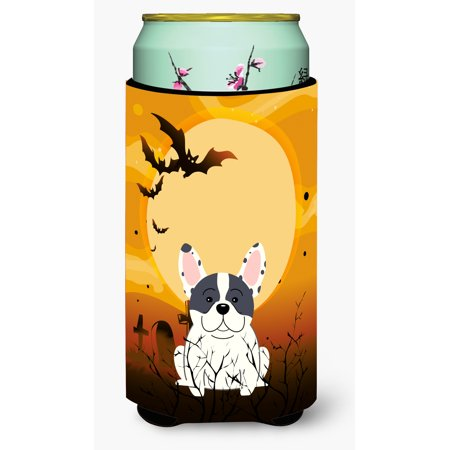 Halloween Traditions In France (Halloween French Bulldog Piebald Tall Boy Beverage Insulator Hugger)