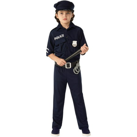 Police Child Halloween Costume](Kids Crayon Costume)
