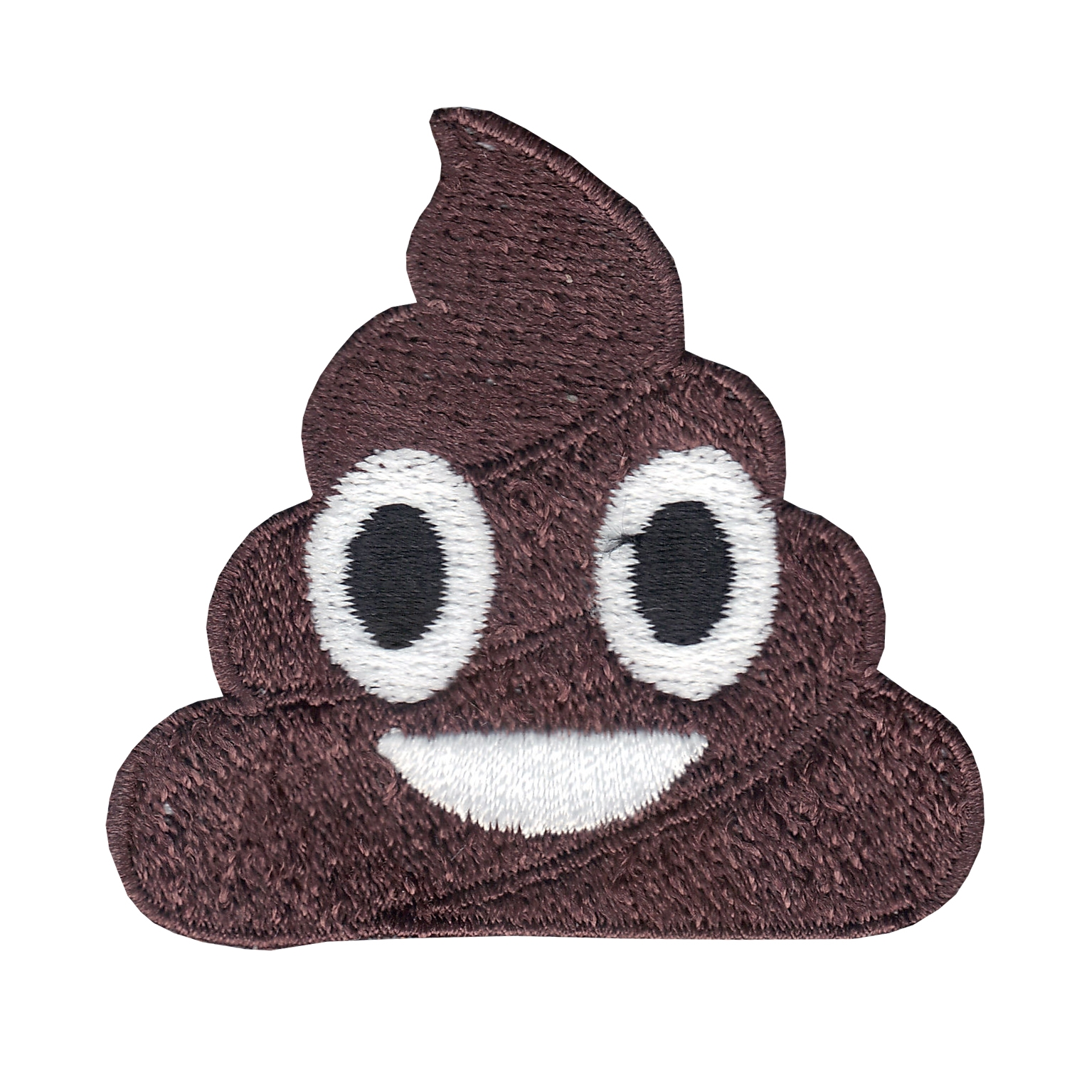 Poop Emoji Iron On Applique Patch
